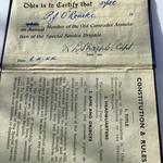 Association book of Gnr. O'Rourke No.6 Cdo