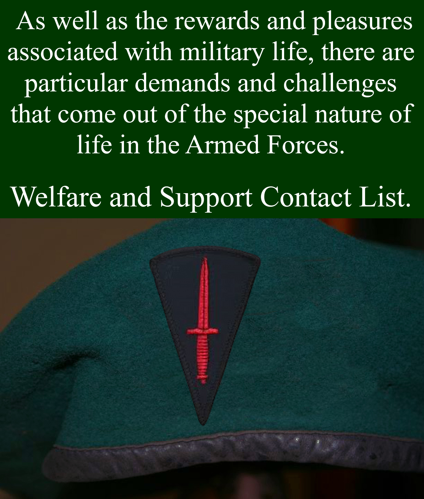 Welfare and Support links