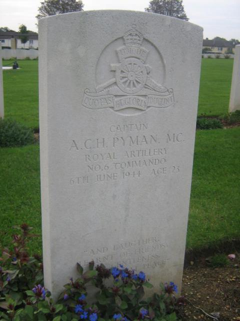 Captain  Alan Pyman MC