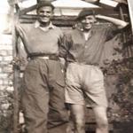 Mne. Bernard Cann 45RM Cdo., 'E' Troop (left) and another
