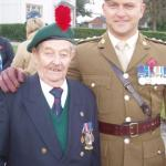 Frank Johnson No.3 Cdo. and Capt Geoff.Murray, CVA Nat. Sec.