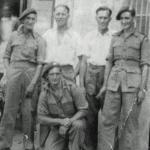 Dick Hawkins (standing 2nd right) and others - No.1 Cdo.