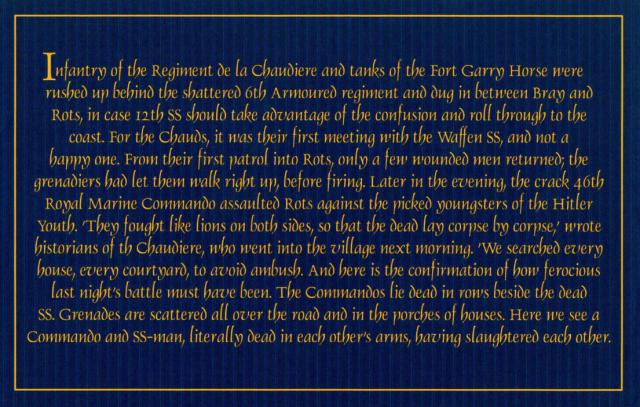 A description of the battle for ROTS that involved 46RM Cdo.