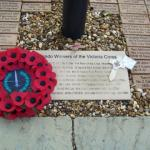 CVA Wreath and Eric Harden VC memorial Cross