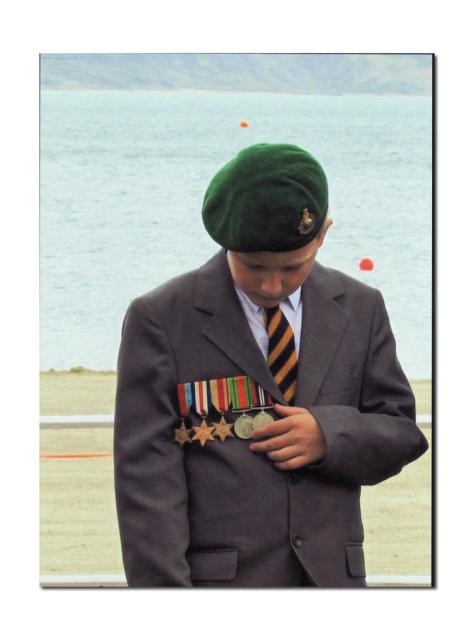 The proud Great Grandson of C/Sgt. Bob 'Beau' Ghest