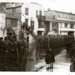 Parade of the CMWTC at St Ives 1945