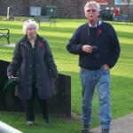 Janet & Bobby Bishop at The Commandos in Lochaber Commemorative Stone, Fort William.