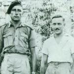 John Southworth MM No.1 Cdo. (on the left) and unknown