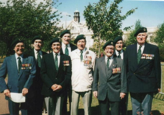 No.1 Commando veterans in Cardiff