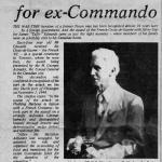 RSM James 'Taffy'  Edwards  No.4 Commando