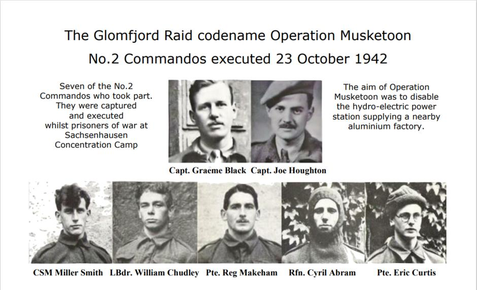 Seven Men of No. 2 Commando who were executed after Operation Musketoon