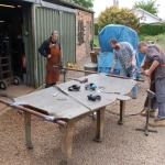 The team at Anwick Forge working on the new Roll of Honour Memorial Wall - June 13
