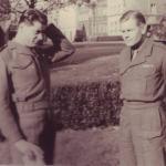 Capt. P.C Beckett and Lt.Col. RWP Dawson, DSO., Dec.1945