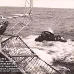 Ditched Wessex helicopter 1976 (40 Cdo Group with HMS Bulwark)