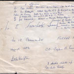 Reverse of a different copy of the No.12 Commando, 4 Parachute troop photo