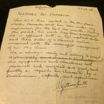 Reference Letter of Sgt Raymond Craddock
