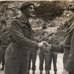 Capitaine de Corvette Philippe Kieffer and Monty, awards ceremony L'écarde quarry, Amfreville 16th July 1944.