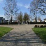 The approach to Nederweert Cemetery