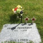 The last resting place of Frede Pedersen, No.5 Commando.