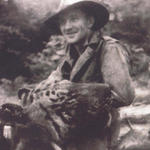 WO1 Richard Albert 'Dick' Knapton No 1 Special Service Detachment,  and tiger, 1942