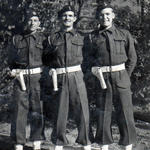 Pte. Norman Carter (right) and others