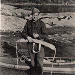 Unknown from No 6 Cdo. 101 Troop.  Folbot canoe training West of Scotland. April 1941