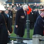 David Justice Lays The Wreath on behalf of The CVA, London Branch