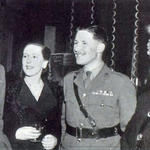 Lt Col Young and Maj Franks at a 1946 party for the CBF