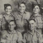 Chessy, Finnigan (back); Harry, Chaddy (front) at Cairo 1941.