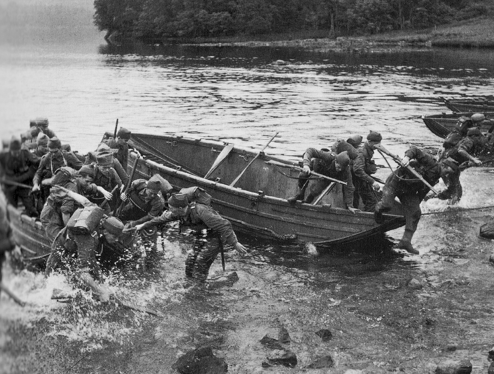 French Commandos practice at Achnacarry August 1943